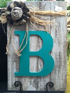 Pallet Initial Signs by CraftsbyRaeRayLLC on Etsy