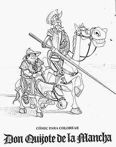 Biblioteca Gregorio Marañón: Murales de Don Quijote Dom Quixote, Ap Spanish, Impossible Dream, Windmill, Zentangle, Famous People, Medieval, Literature, Mandala