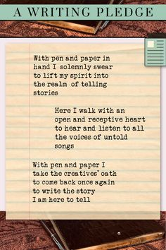 With pen and paper in hand, I solemnly swear to lift my spirit into the realm of telling stories. Here I walk with an open and receptive heart to hear and listen to all the voices of untold songs. With pen and paper, I take the creatives' oath to come back once again to write the story I am here to tell
