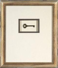 Antique Skeleton Key I in Floating Shadow Box 13