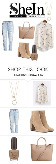 """SHEIN♥"" by stylishgirl551 ❤ liked on Polyvore featuring Kate Spade, Yves Saint Laurent, OPI and MANGO"