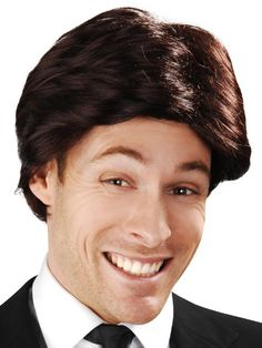 Anchorman character wig Anchorman swept fringe brown party wig