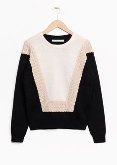 & Other Stories | Graphic Cable Knit Sweater