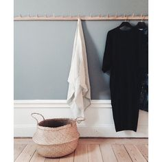 DIY coat rack for mud room. *explanation required: Build Something From Scratch - Check Hallway Inspiration, Interior Inspiration, Interior Decorating, Interior Design, House Entrance, Grey Walls, Home Staging, Interior And Exterior, Bedroom Decor
