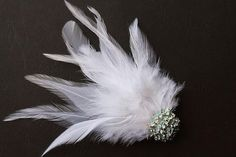 Wedding Fascinator Feather Hair Clip Ivory by BelleBlooms on Etsy