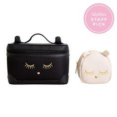Lionel Handbags Cat Makeup Bag Duo - FabFitFun