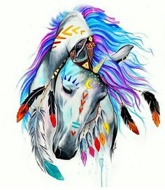 art, colors, and horse image                              …