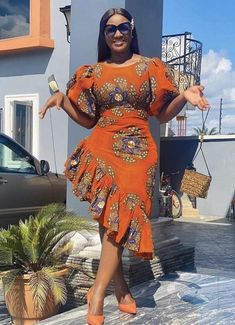 Short African Dresses, Latest African Fashion Dresses, African Print Fashion, Ankara Fashion, Africa Fashion, African Prints, Modern African Fashion, African Fabric, Short Dresses