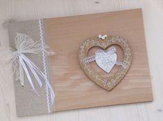 Χειροποιητα ξυλινα βιβλια ευχων  See more on Love4Weddings  http://www.love4weddings.gr/handmade-guest-wish-books/