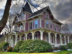 Beautiful purple home