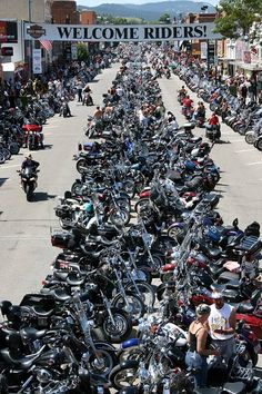 www.MotoLeather.com - Sturgis is famous for being the location of one of the largest annual #motorcycle events in the world, which is held annually on the first full week of August. Motorcycle enthusiasts from around the world flock to this usually sleepy town during the #Sturgis Motorcycle Rally.