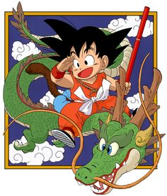 Dragon Ball - kid Goku and Shenlong - Manga by on DeviantArt Dragon Ball Gt, Kid Goku, Akira, Dragons, Goku Wallpaper, Arte Sketchbook, Manga Covers, Ghibli, Anime Art
