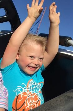 In this post we share a video of our son with Down syndrome riding an upside roller coaster for the first time! via @noahsdaddotcom