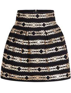 Black Bronzing Striped Rose Skirt 17.67