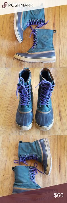 953730d2807 Sorel 1964 Waterproof Winter Rain Snow Boots Previously loved Sorel 1964  Premium boot in dark green