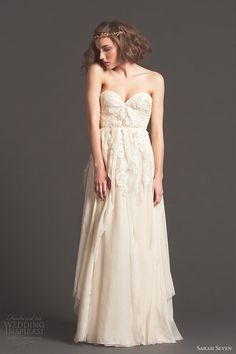 """shall we say, """"disheartening"""" things about Sarah Seven; (Cascade gown by Portland designer Sarah Seven) Sarah Seven Bridal, Sarah Seven Wedding Dresses, Used Wedding Dresses, Wedding Dress Sizes, Bridesmaid Dresses, Bridesmaids, Bridal Gowns, Wedding Gowns, Wedding Attire"""