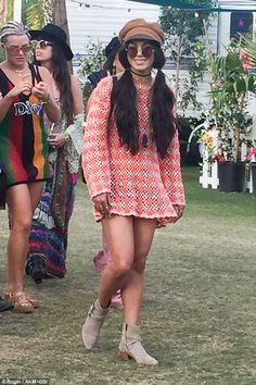 Retro: She's the queen of festival style. And for her third day at the world renowned Coachella festival on Sunday, Vanessa Hudgens took inspiration from the sixties