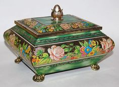 Tin Box - Decorative Flowers - Blue Bird Confectionery (My Favourite Tin so far <3 )