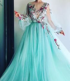 Sexy V Neck Evening dresses Tulle Applique A-Line Long Prom Dresses Cheap Gowns Sexy V-neck Evening Dresses Tulle Appliques A-Line Long Prom Dresses Cheap Dresses Prom Dresses Long With Sleeves, Prom Dresses 2018, Tulle Prom Dress, Cheap Prom Dresses, Formal Dresses, Dress Long, Long Dresses, Maxi Dresses, Sleeveless Dresses