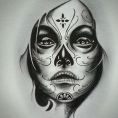 . Tatto Katrina, La Catarina Tattoo, Face Tattoos, Sleeve Tattoos, New Tattoos, Body Art Tattoos, Girl Tattoos, Arm Tattoo, Sugar Skull Girl Tattoo