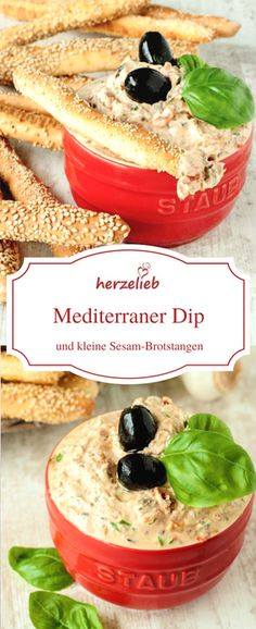 Dip Rezept - ein mediterraner Dip nach einem Rezept von herzelieb. Sensationell gut zum Grillen, für Fondue oder einfach nur so.