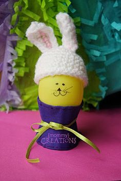 Fun Little Tutorial on the Easter bunny egg hat! could be for preemie or cute decoration for basket for elderly or kids