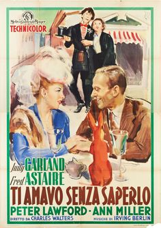 Love this Italian poster for Easter Parade, 1948