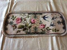 Antique Beadwork Panel | eBay Beadwork, Needlework, Bronze, Victorian, Textiles, Ceramics, Embroidery, Patterns, Antiques
