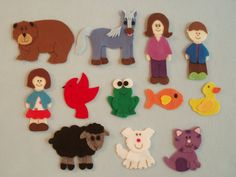 Brown Bear, Brown Bear, What Do You See Felt Board Story/Flannel Board Stories/Felt Stories/BearTheme/Teaching Resource/Felt Animals/Colors