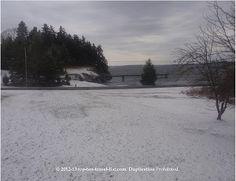 Snow on Islesboro Island in Maine