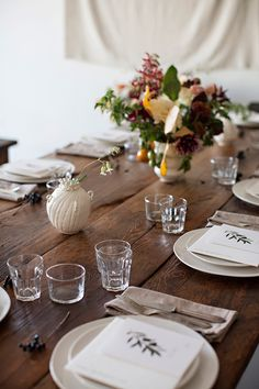 A rustic table setting can still be very elegant-with-heart. You don't have to buy fancy wine glasses.