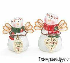 Set of 2 Noel Salt & Pepper Shakers Snoangels Christmas by Burton and Burton. $10.88