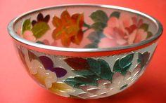 Gorgeous Japanese plique-a-jour cloisonne' bowl.