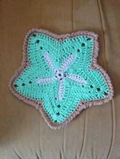 Free Crochet Starfish Dishcloth Pattern : DJCstitches Starfish Dishcloth 3 Starfish, Ravelry and ...