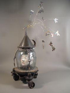 ''dream showers''.  recycled art by leona keene sewitsky.