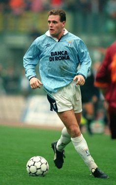 Paul Gascoigne of Lazio & England in Best Football Players, World Football, Soccer World, Football Kits, Sport Football, Soccer Players, Retro Football, Vintage Football, Soccer Stars