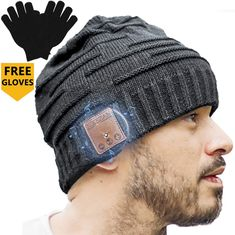 Upgraded Unisex Knit Bluetooth Beanie Winter Music Hat Headphones w/Built-in Stereo Speaker Unique Christmas Tech Gag Gifts for Boyfriend/Him/Men/Teen Boys/Stocking Stuffers Best Friend Birthday Gifts For Tech Lovers, Cool Tech Gifts, Silly Gifts, Gag Gifts, Best Speakers, Stereo Speakers, Stocking Stuffers For Boys, Gifts For Techies, Christmas Gifts For Men