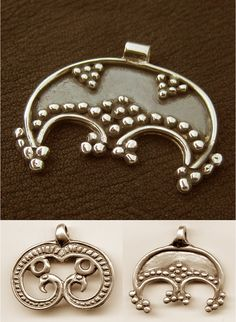 Lunula (also called Lunitsa) is a crescent moon shaped charm, found in ancient Slavic and Norse cultures.