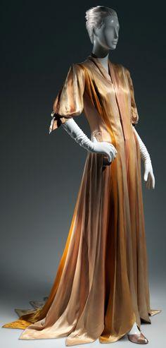 Charles James - Couturier - Robe de Soirée - 'Ruban' - Camaïeu Doré -1938 - 1940