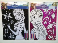 NEW Disney's FROZEN Elsa And Anna Coloring Sheet With Markers Included