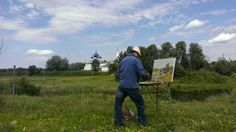 "3rd Place, Local Culture and Life: Conrad Henkel, Russia  ""A painter in Suzdal"""