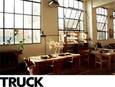 Windows, furniture, industrial lighting.