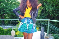 Valene from NSIMBA blog in a Parade of Charm Wax fabric