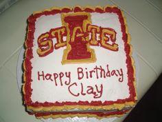 Iowa State Birthday Cake