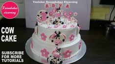 How to make Farm animal cow cake design:happy birthday cake pic ideas:cake decorating classes Cow Birthday Cake, Cartoon Birthday Cake, Happy Birthday Cake Pictures, Animal Birthday Cakes, First Birthday Cakes, Animal Cakes, 2nd Birthday, Cake Decorating Classes, Birthday Cake Decorating