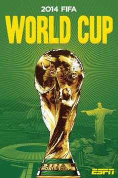 World Cup Poster by Cristiano Siqueira for ESPN, Fifa WorldCup Brazil 2014 World Cup Logo, World Cup Teams, Fifa World Cup, Brazil World Cup, World Cup 2014, New England Patriots, Mens World Cup, World Cup Trophy, Poster S