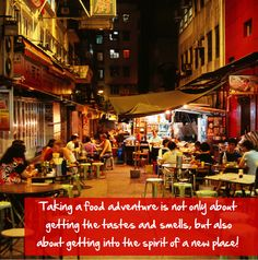 Traveling for food is as much about taking in the sights and smells, as about taking in the spirit of quaint new places! In Soho, Hong Kong   #HongKong