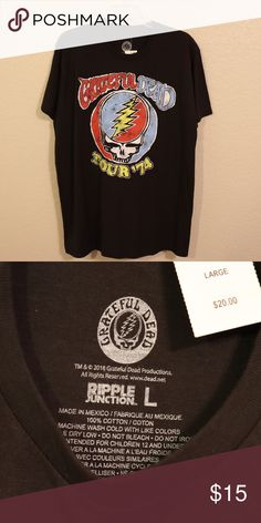 eda3dcfc5f94 Grateful Dead Tour '74 Graphic Black Tshirt NWT Ready for festival season?  Here's your