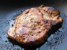 Keep pork chops from quickly becoming dry and rubbery by using the following quick cooking method:    Sear generously seasoned chops in a hot pan coated well with olive oil for 1 full minute per side, until a golden crust forms. Transfer the chops to a baking dish and finish cooking them in the oven at 350 degrees F for 7 to 10 minutes.