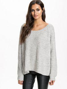 Billa Sweater - Gestuz - Light Grey Melange - Gensere - Klær - Kvinne - Nelly.com